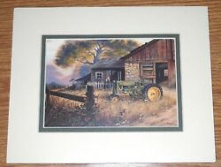 New Vintage 8 X 10 Double Matted John Deere Picture, Sealed, Read To Frame