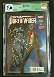 Darth Vadar 3 Signed And Remarked David Prowse 1st Dr Aphra Cgc 9.6 3737274004