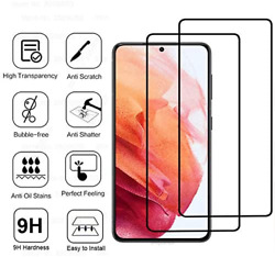 2Pack Tempered Glass Screen Protector For Samsung Galaxy S21 S21 Plus S21 Ultra