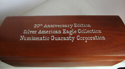 20th Anniversary Addition Silver Eagles Ngc 1986-2005 Ngc Ms68 Rare With Box