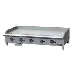 Adcraft Bdctg-60t Black Diamond Thermostatic Gas Griddle, 60w X 22d, 1 Plate
