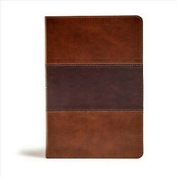 Holy Bible King James Version, Saddle Brown, Leathertouch, Giant Print Refe...