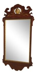40003 Friedman Brothers 6525 Chippendale Mahogany Mirror W. Gold Details New