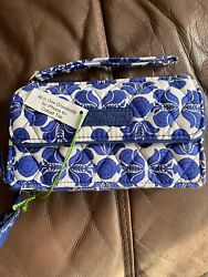 Vera Bradley all in one Crossbody for the iPhone 6 Cobalt Tile $25.00