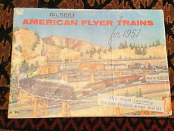1957 Gilbert American Flyer Model Train Catalog With 48 Color Pages Of Trains