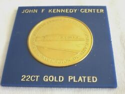J.f.kennedy Center Performing Arts-22ct Gold Plated..medal 5.8/18439