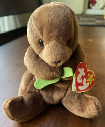 Seaweed Beanie Baby- Ty Seaweed The Otter - Rare Tag Errors 1995/1996 Retired