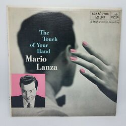 Mario Lanza Touch Of Your Hand 33 1/3 Rpm Album Record Perfect Lm1927 Nm /vg+