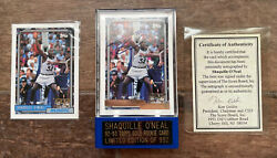 1992-93 Topps Gold Shaquille Oand039neal Rookie Rc Auto W/ Cert Authenticity /992