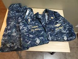 X Small Short Us Navy Blueberry Digital Blue Camouflage 2 Blouses 1 Trouser