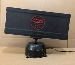 Delco Battery Display Rotating Dry Charge Extremely Rare Sign Electric Gas Oil