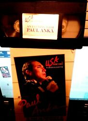Vhs An Evening With Paul Anka Rare Usa Home Video Collectible First Edition