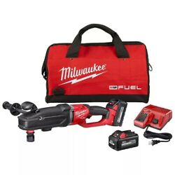 Milwaukee 18v Li-ion Brushless Cordless 7/16 In. Right Angle Drill Kit