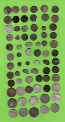 Poand Lithuania Riga Livonia Latvia Ca 1630 Lot Of 69 Medieval Coins 770