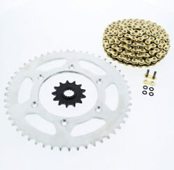 1999 Ktm 520 Exc 520 Cz Orhg Gold X Ring Chain And Sprocket 13/52 120l