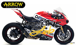 Exhausts Mufflers Silencers Arrow Titanium End Cap Carbon For Ducati Panigale V4