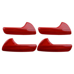 4x Interior Door Handle Decor Cover Trim Red Fit For Jeep Grand Cherokee 11-20