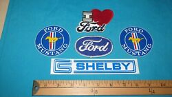 5 80s Ford Mustang Muscle Car Shelby Patch Crest Sticker Decals I Love You