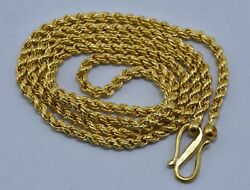 Vintage 22 Kt Gold Chain Necklace Handmade Gold Chain Gold Jewellery
