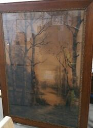 122 Years Old Antique Art By Signed Ernest Casimir Peullevé 1898