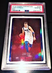 2018 Luka Doncic Panini Chronicles Red /149 Rookie Rc Psa 10 Gem Mint Pop 12