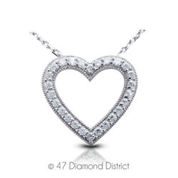 1ct Tw F Vs2 Round Cut Natural Earth Mined Certified Diamonds 950 Plt. Pendant