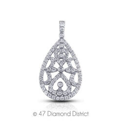 3ct Tw E Vs1 Round Cut Natural Earth Mined Certified Diamonds 18k Gold Pendant