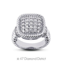 1ct Total F Vs1 Round Cut Earth Mined Certified Diamonds 14k Gold Fashion Ring