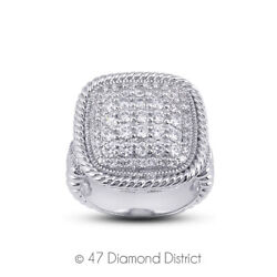 1ct Tw E Vs2 Round Brilliant Natural Certified Diamonds 14k Gold Cocktail Ring