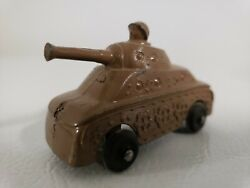Vintage Diecast Metal Toy Military Tank With Man In Turret Barclay / Manoil