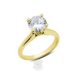 0.50ct H Vs2 Round Natural Certified Diamond 14k Gold Solitaire Engagement Ring