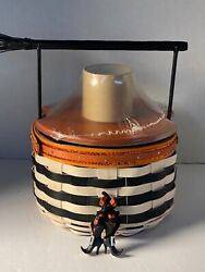 Longaberger Halloween 2013 Basket Wicked Witch Liner And Protector And Tie On Lid