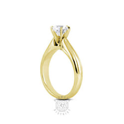 0.64ct K-vs1 Round Natural Certified Diamond 14k Gold Solitaire Engagement Ring