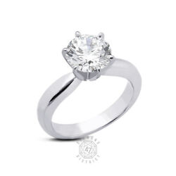 0.64ct K-vs1 Round Natural Diamond 18k Gold Classic Solitaire Engagement Ring