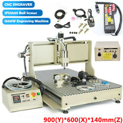 Usb Port 4 Axis 6090 Cnc Router Engraver 3d Metal Milling Cutting Machine 1500w