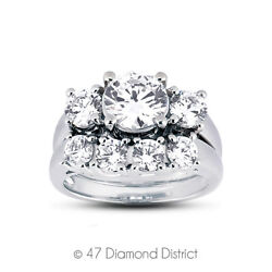1.95 Ct I-si1 Round Natural Certified Diamonds 14k Classic Matching Bridal Set