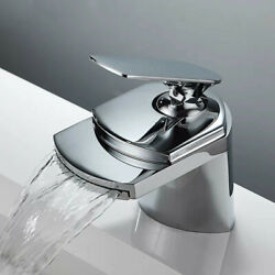 Basin Faucet Sink Mixer Tap Brass Tap Water Faucet Waterfall Chrome Finished