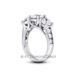 1.25 Ct D Vs1 Round Natural Certified Diamonds 18k Gold Classic Engagement Ring