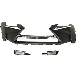 Set Of 3 Bumper Covers 5211978912 8122078010 8121078010 For Lexus Nx200t 15-17