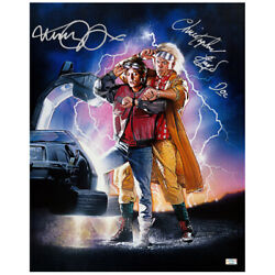 Michael J. Fox, Christopher Lloyd Autographed Back To The Future Ii 16x20 Poster