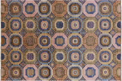 Hand-knotted Mamluk Wool Rug 6and039 7 X 9and039 8 - Q7317