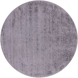 8and039 Round Hand-knotted Wool And Silk Rug - Q7070