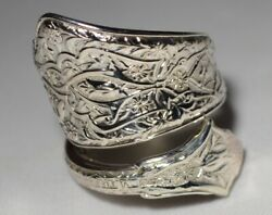 Antique 1872 And Co Persian Sterling Spoon Ring Size 7 Teaspoon D