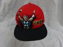 Red amp; Black Marvel Comics The Mighty Thor Embroidered Baseball Trucker Hat