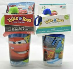 The First Years Disney Pixar Cars Take And Toss Sippy Cups 10 Oz. 9m+ 6 Count