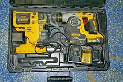 """Dewalt Dch273p2dho Rotary Hammer 1"""" Sds Kit W/ Dust Extractor 20v ------d25"""