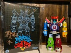 Giant Robo Superseal Action Figure Signed By Dj Qbert Voltron Color 4 Of 12