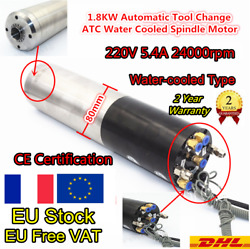 1.8kw Er20 Iso20 Atc Automatic Tool Change Water Cooling Spindle Motor 24000rpm