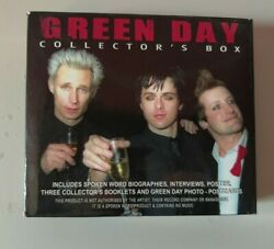 Green Day Collectors Box Import 3 Cd Set With 3 Postcards And Mini Poster