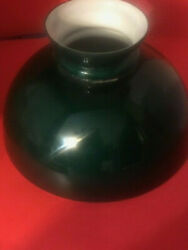 Vintage Antique Green Cased Glass Lamp Shade 10 Estate Find In Pa.